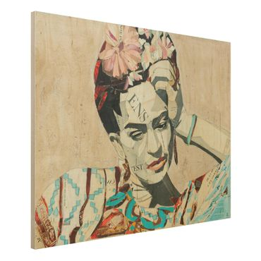 Quadro in legno -Frida Kahlo - Collage No.1- Orizzontale 4:3