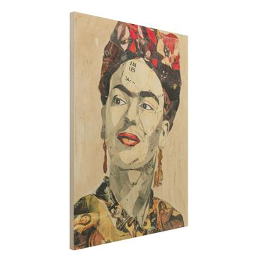 Quadro in legno -Frida Kahlo - Collage No.2- Verticale 3:4
