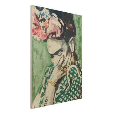 Quadro in legno -Frida Kahlo - Collage No.3- Verticale 3:4