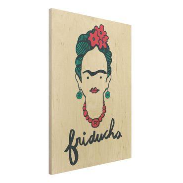 Quadro in legno -Frida Kahlo - Friducha- Verticale 3:4