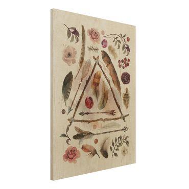 Quadro in legno - Finds - Watercolors- Verticale 3:4