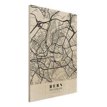 Quadro in legno - Bern City Map - Classical- Verticale 3:4