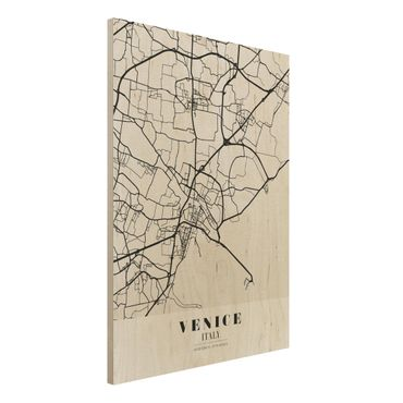 Quadro in legno - Venice City Map - Classic- Verticale 3:4