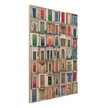 Quadro in legno - 100 doors - Verticale 3:4