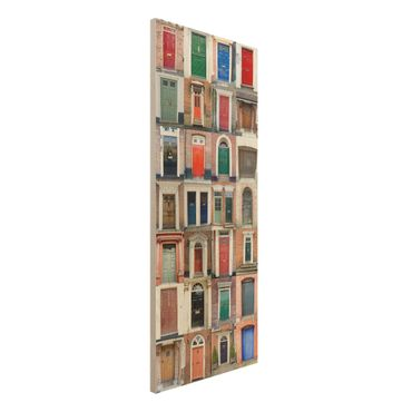 Quadro in legno - 100 doors - Pannello
