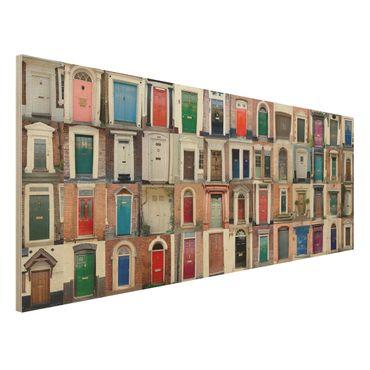 Quadro in legno - 100 doors - Panoramico