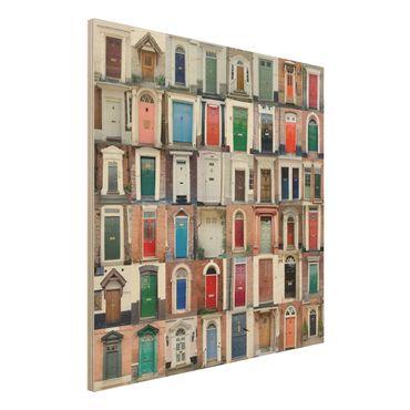 Quadro in legno - 100 doors - Quadrato 1:1