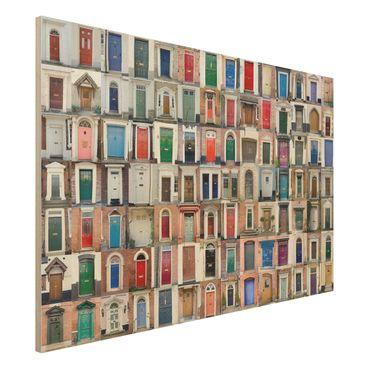 Quadro in legno - 100 doors - Orizzontale 3:2