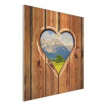 Quadro in legno - Mountain Huts - Quadrato 1:1