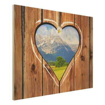 Quadro in legno - Mountain Huts - Orizzontale 4:3
