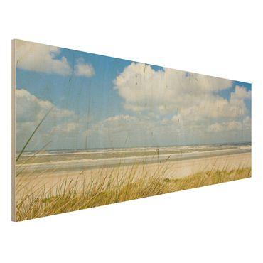 Quadro in legno - On the North Sea Coast - Panoramico
