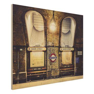 Quadro in legno - Baker Street - Orizzontale 4:3