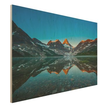 Quadro in legno - Mountain landscape at Lake Magog in Canada - Orizzontale 3:2
