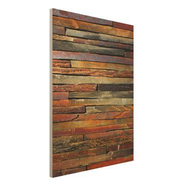 Quadro in legno - Stack of Plants - Verticale 3:4