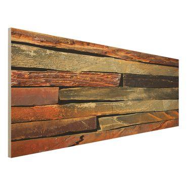 Quadro in legno - Stack of Plants - Panoramico