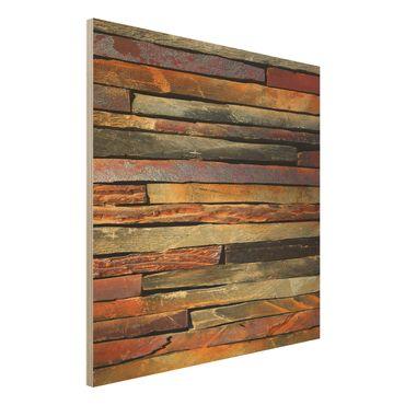 Quadro in legno - Stack of Plants - Quadrato 1:1