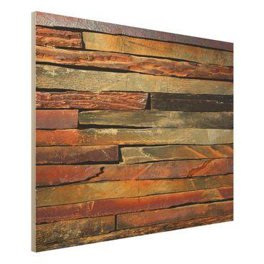 Quadro in legno - Stack of Plants - Orizzontale 4:3