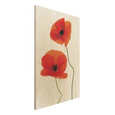 Quadro in legno - Charming Poppies - Verticale 2:3