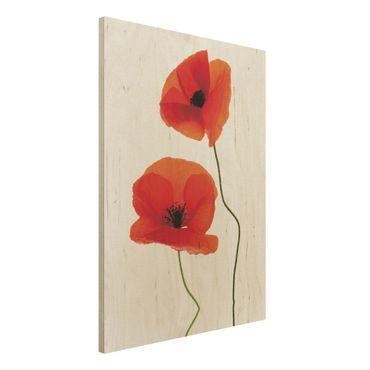 Quadro in legno - Charming Poppies - Verticale 3:4