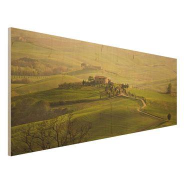 Quadro in legno - Chianti Tuscany - Panoramico