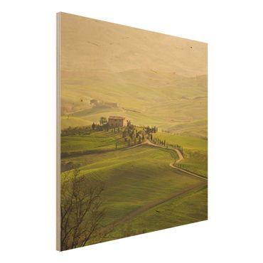Quadro in legno - Chianti Tuscany - Quadrato 1:1