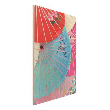 Quadro in legno - Chinese Parasols - Verticale 2:3