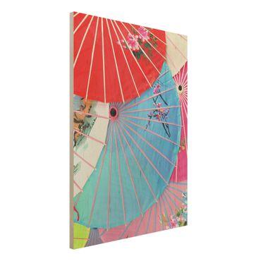 Quadro in legno - Chinese Parasols - Verticale 3:4