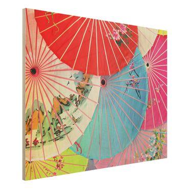 Quadro in legno - Chinese Parasols - Orizzontale 4:3