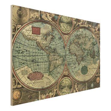Quadro in legno - The old world - Orizzontale 3:2