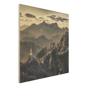 Quadro in legno - The Great Chinese Wall - Quadrato 1:1