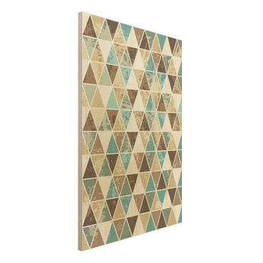 Quadro in legno - Triangle repeat pattern - Verticale 2:3