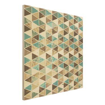 Quadro in legno - Triangle Repeat Pattern - Quadrato 1:1
