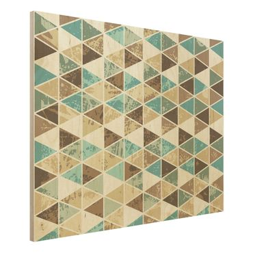 Quadro in legno - Triangle repeat pattern - Orizzontale 4:3
