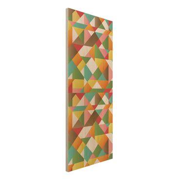 Quadro in legno - Triangles pattern design - Pannello