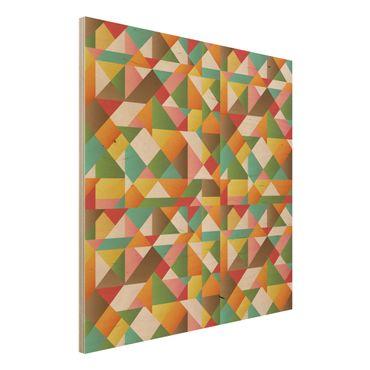 Quadro in legno - Triangles Pattern Design - Quadrato 1:1