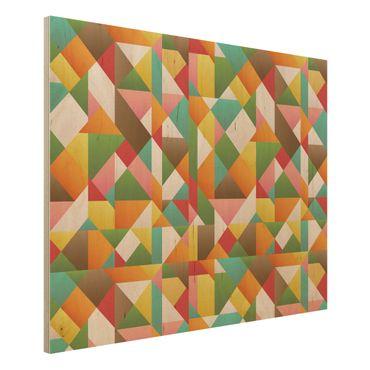 Quadro in legno - Triangles pattern design - Orizzontale 4:3
