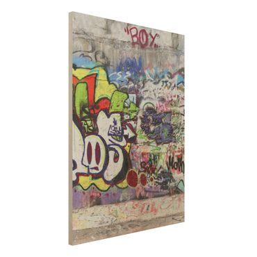 Quadro in legno - Graffiti - Verticale 3:4