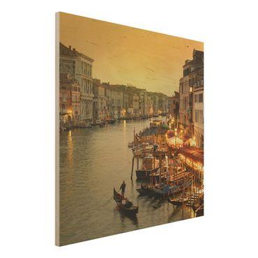 Quadro in legno - Grand Canal of Venice - Quadrato 1:1