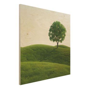 Quadro in legno - Green peace - Quadrato 1:1