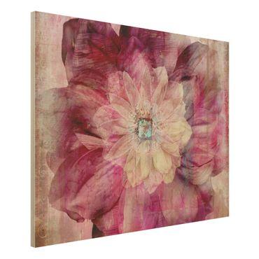 Quadro in legno - Grunge Flower - Orizzontale 4:3