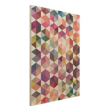 Quadro in legno - Hexagon facets - Verticale 3:4