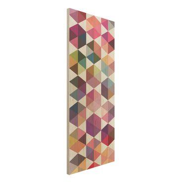 Quadro in legno - Hexagon facets - Pannello