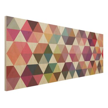 Quadro in legno - Hexagon facets - Panoramico