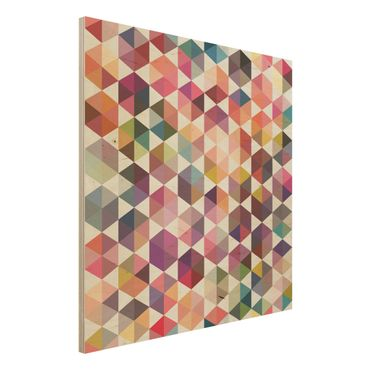Quadro in legno - Hexagon facets - Quadrato 1:1