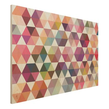 Quadro in legno - Hexagon facets - Orizzontale 3:2