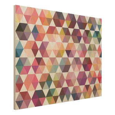 Quadro in legno - Hexagon facets - Orizzontale 4:3