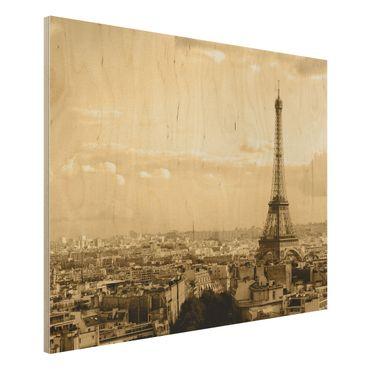 Quadro in legno - I Love Paris - Orizzontale 4:3