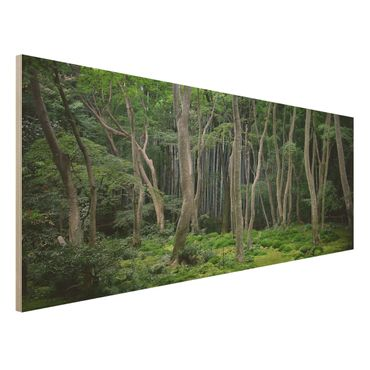 Quadro in legno - Japanese Forest - Panoramico