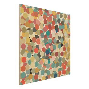 Quadro in legno - Confetti - Quadrato 1:1