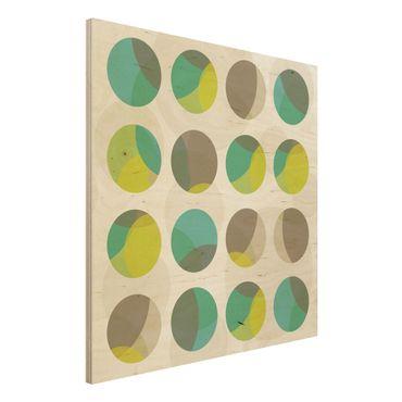 Quadro in legno - Circle Design - Quadrato 1:1